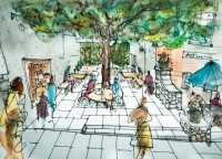 An Artists Impression of how the Shady Garden would look.